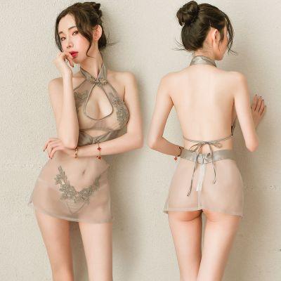 情趣內衣超騷極度誘惑性感調情挑逗旗袍免脫露乳小胸顯大免脫漏奶