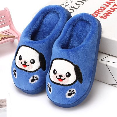 兒童棉拖鞋一家三口親子棉拖秋冬季小孩男童女童防滑寶寶室內拖鞋 纖婗(QIANNI)