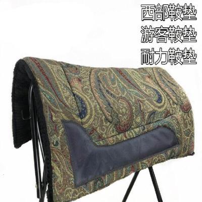 因樂思(YINLESI)馬鞍子馬鞍墊彩色加厚毛氈西部鞍耐力馬鞍墊汗墊馬鞍配件馬術用品