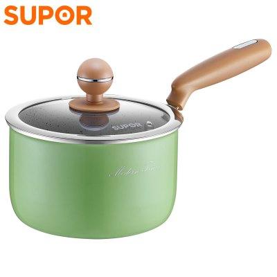 蘇泊爾(SUPOR)奶鍋泡面鍋不粘鍋麥飯石色輔食鍋小煮鍋迷色系列 電磁爐燃氣灶通用 ET16JAP01-V 綠色