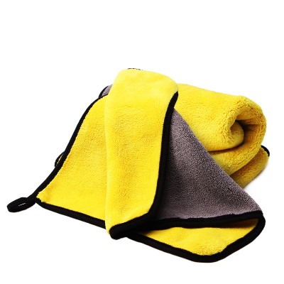 加厚双面珊瑚绒洗车擦车毛巾擦车毛巾清洁毛巾30*30