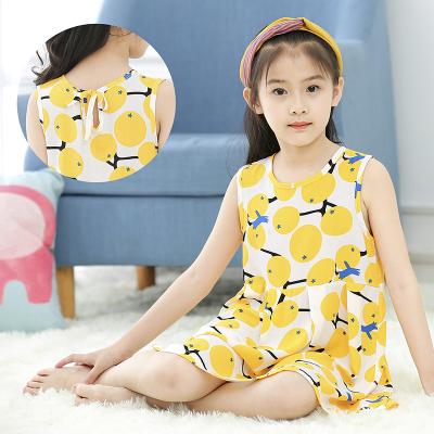 新款夏季兒童睡裙小女孩薄款棉綢睡衣中大童女童綿綢公主裙連衣裙臻依緣