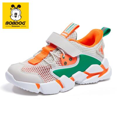 BOBDOG HOUSE巴布豆童鞋兒童運動鞋2020春款男童鞋女童網面透氣休閑鞋2213