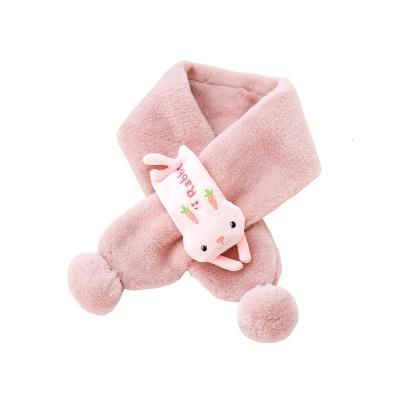 宝宝围巾秋冬儿童婴儿可爱毛球三角巾男童女童动物围脖
