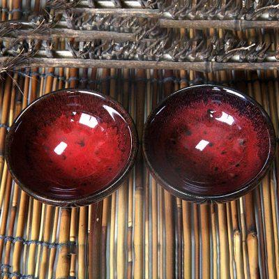 《红桑》宜兴均釉紫砂杯2杯套装