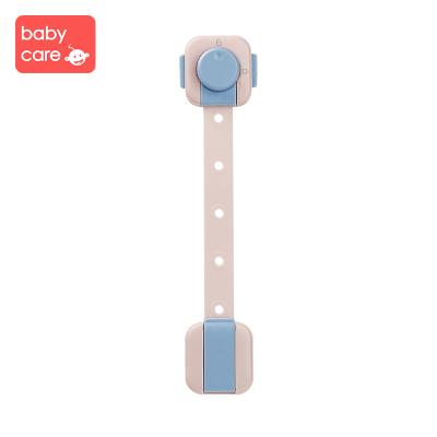 babycare兒童防護鎖 寶寶防夾手抽屜鎖嬰兒多功能安全鎖冰箱鎖柜子鎖 維爾粉 4150