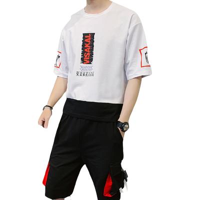 墨爾斯特(MO ER SI TE)2020夏季新款運動服套裝韓版潮流短袖T恤男帥氣衣服一套裝A172-F176