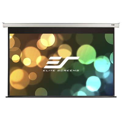 億立(Elite Screens)92英寸16:9玻纖電動幕布 投影幕布 投影儀幕布 投影幕(JSP92HT-E30)
