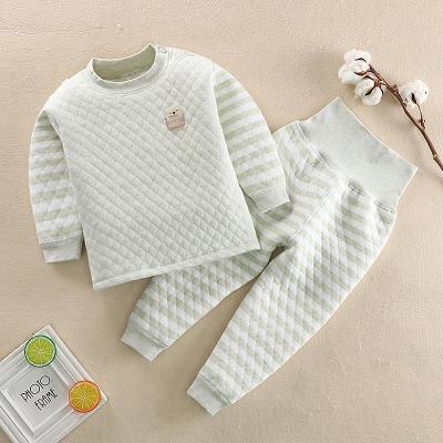 【年后发货】口袋虎男女童时尚三层夹棉加厚保暖套装