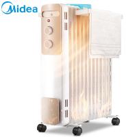 美的取暖器油汀13片2200W 大面积散热片 倾倒断电 适用20-25㎡ 电暖气家用暖气机