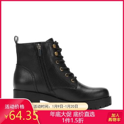 冬靴女冬新款百搭粗跟小短靴女侧拉链女鞋马丁靴女1017605037