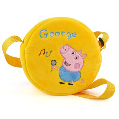 【过年正常发货】小猪佩奇 儿童男女孩3-6岁公仔可调节斜挎包零钱包佩琪生日礼物 乔治圆包
