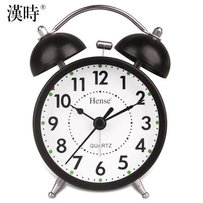 漢時(Hense) 可愛卡通小鬧鐘時尚桌鐘靜音時鐘創意個性鬧表臥室床頭懶人鬧鐘臺鐘HA01