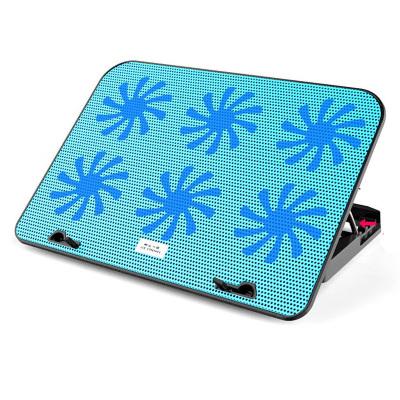 酷睿冰尊筆記本散熱墊14-17.6寸筆記本手提電腦降溫冷風底座排風扇支架墊靜音N106散熱墊 藍色豪華版帶調速凱辛