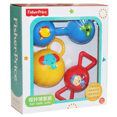 费雪(Fisher Price)儿童玩具球 哑铃球 糖果球 拉拉摇铃球组合套装 F0912