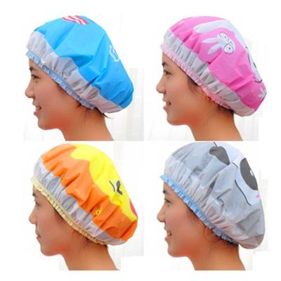2個裝 防水浴帽成人沐浴帽廚房防油煙帽子清潔防塵帽女洗臉束發帶非一次性使用清迅