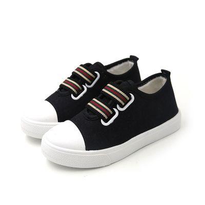 2019春季新款親子鞋一腳蹬帆布鞋韓版學生板鞋男女兒童寶寶小白鞋 莎丞