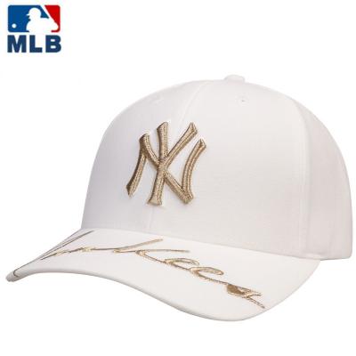 MLB2020春夏新款正品棒球帽韓版潮流繡花休閑帽男女夏季NY嘻哈休閑運動帽子