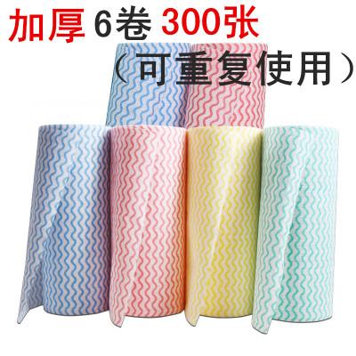 6卷装厨房用纸抹布洗碗纸巾卷纸吸油吸水清洁专用擦去油污无纺布