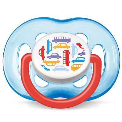 飞利浦 AVENT 新安怡时尚安抚奶嘴单个装男宝 SCF172/14 6-9月 9-12月 12-18月 硅胶标准口径