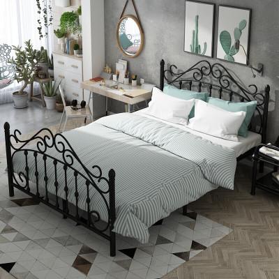 家具放心购铁艺床欧式 铁架床 公主床简易床现代简约出床18 15床铁架床婚床新款6012105