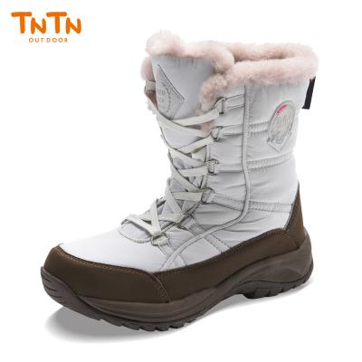 TNTN戶外東北冬季高筒雪鄉加厚羊毛3M俄羅斯新雪麗保暖絨男女情侶防水雪地鞋棉靴子