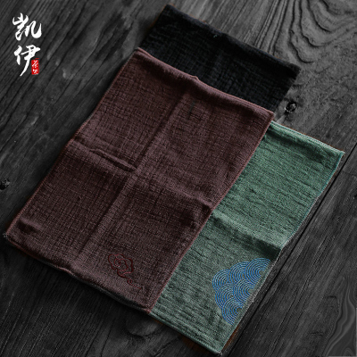 中國風禪意茶布茶巾吸水加厚棉麻復古日式功夫茶具茶臺幾抹布毛巾
