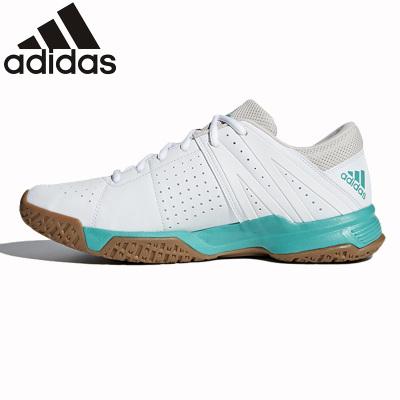 阿迪达斯adidas羽毛球鞋 减震透气防滑耐磨舒适 男款女款情侣款运动鞋 白色DA2171
