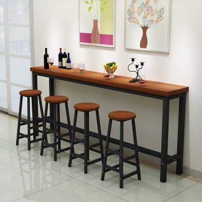 藝可恩鐵藝家用吧臺桌客廳高吧臺桌靠墻小吧臺長條桌酒吧桌現代簡約吧臺