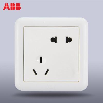 【ABB官方旗舰店】ABB开关插座面板86型开关插座二三错位墙壁五孔插座德静雅白AJ205