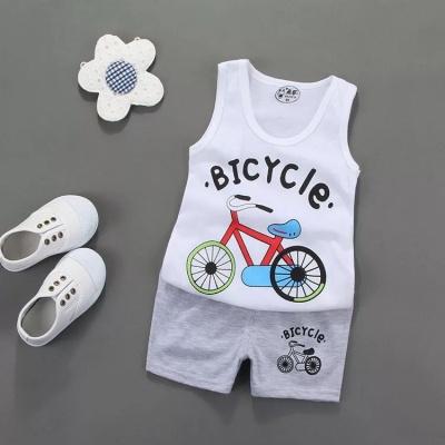 儿童背心套装夏装婴儿薄款衣服男童女童短裤两件套1-2-3-5岁