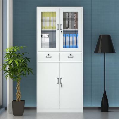 全簡家具文件柜辦公柜鋼制鐵皮柜資料柜檔案柜儲物柜中二斗文件柜