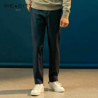 【1件3折价:115.8】MECITY男装男裤羊毛斜纹弹力商务西裤男士西装裤休闲西服裤男