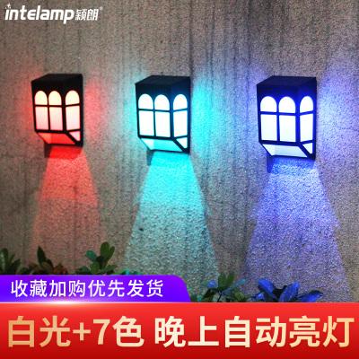 穎朗太陽能大籬笆燈戶外壁燈家用庭院路燈防水花園門柱燈LED室外圍墻燈【24小時內發貨】