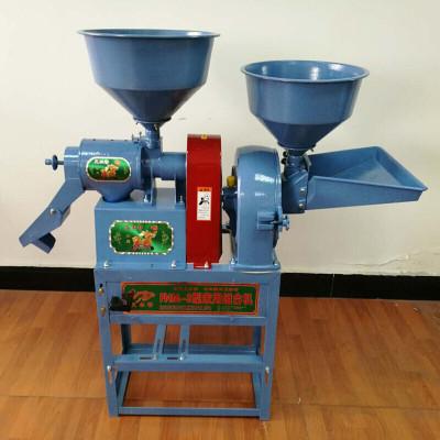 小型家用碾米機全自動多功能打米機大米稻谷脫殼剝殼機玉米去皮機 碾米粉碎組合機藍色+2.2kw電機