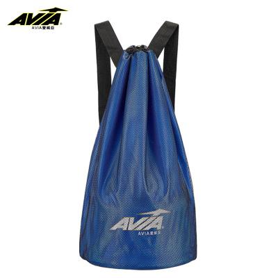 AVIA愛威亞籃球包網狀籃球袋訓練包網袋網包雙肩背包排球足球包束口袋健身運動桶包