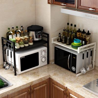 家佰利 微波炉架不锈钢厨房置物架 厨房收纳架厨房用品微波炉架子置物架厨房落地烤箱架厨房用品 收纳层架