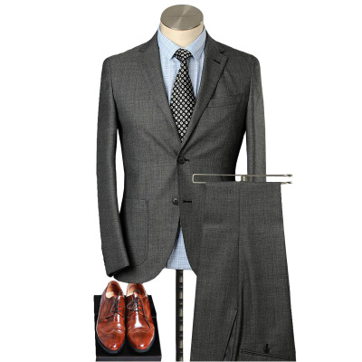 美尔雅(MAILYARD)西服套装男 羊毛商务休闲男士西服 男式修身薄西装 130