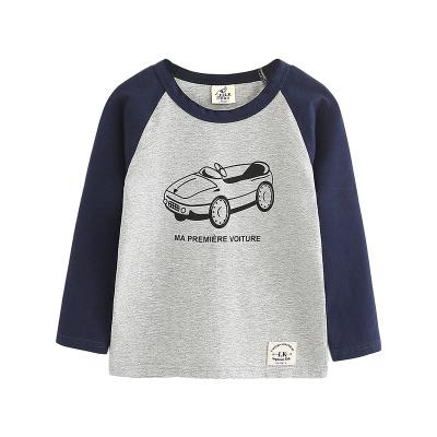 I.K印象童年1-8岁童装男童长袖T恤2019新款儿童拼色纯棉卡通汽车上衣宝宝套头衫打底衫