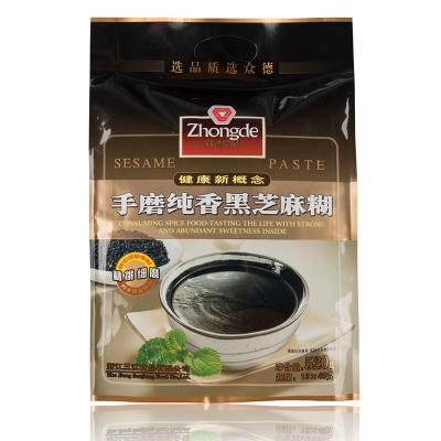 众德现磨手磨纯香黑芝麻糊520g谷物芝麻粉营养早餐