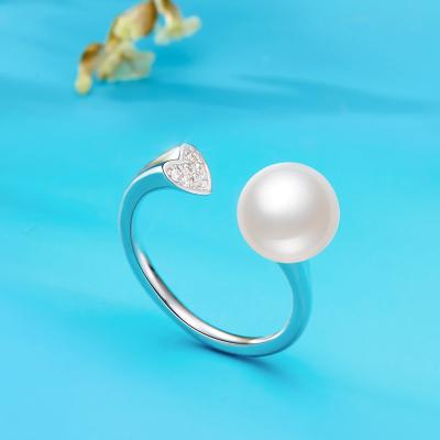 色傳情(BRIR) S925銀鑲淡水珍珠戒指銀戒指
