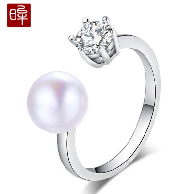 印象眸 淡水珍珠皇冠戒指时尚指环