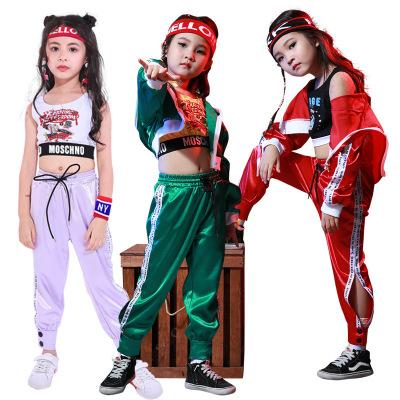 兒童街舞套裝嘻哈女童衣服練功服跳舞衣舞蹈服夏季爵士舞演出服女其他 臻依緣