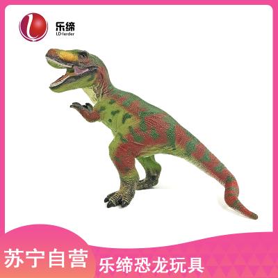 可发声软胶款43CM斜长恐龙玩具仿真动物玩具儿童霸王龙恐龙模型1-3-6岁男孩玩具