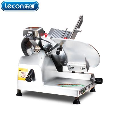 lecon/樂創西莎羊牛肉切片機半/全自動商用切肉機牛羊肉卷電動臺式不銹鋼10寸切肉片機半自動切片機
