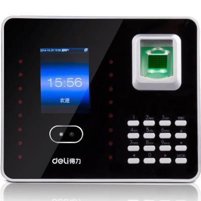 得力(deli) 3969指紋加人臉識別考勤機 混合識別打卡機 自帶 網線接口