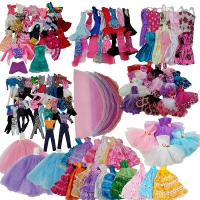 芭比娃娃的衣服和裤子套装小服饰diy自由换装女孩玩具配饰仿【定制】 古装裙子 款式随机10件【送5双鞋子】【定制】