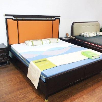 邁菲詩新中式全實木床禪意婚床酒店別墅民宿1.8m雙人床家具定制現代中式