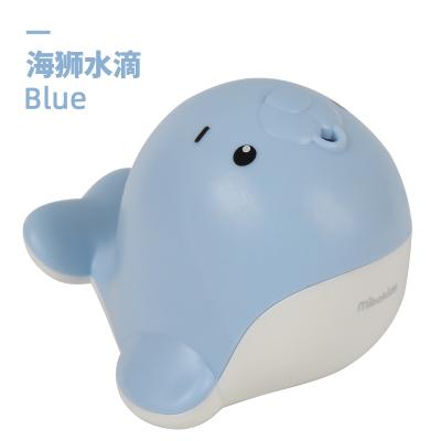 米寶兔寶寶兒童洗澡噴水神器抖音同款水滴動物大象海獅戲水玩具MB84BL海獅-藍