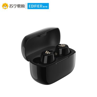 Edifier/漫步者 TWS1藍牙耳機單雙耳真無線迷你小型隱形入耳式運動跑步降噪安卓通用重低音 黑色